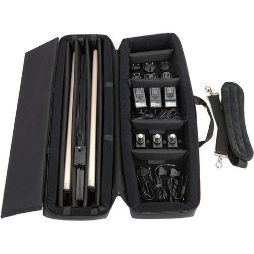 BB&S Lighting Pipeline Free 2' 3200K Kit/ Cordura Case/ 3200K Pipes/ World Power Supplies/ Mounts/ D-Tap Cables