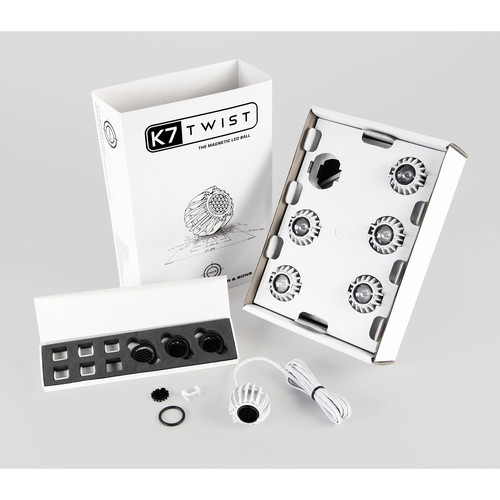 BB&S Lighting K7 Twist Magnetic LED Balls Set of 6 (White, 4000K)
