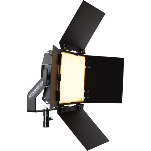 BBS Lighting Area 48 LED Soft Studio Fixture with Interchangeable Phosphor Technology (Black, 5600K)