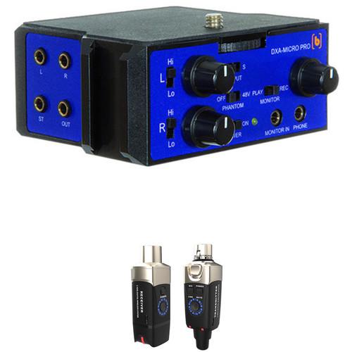 Beachtek DXA-MICRO-PRO Active XLR Adapter and Xvive Wireless Microphone Kit