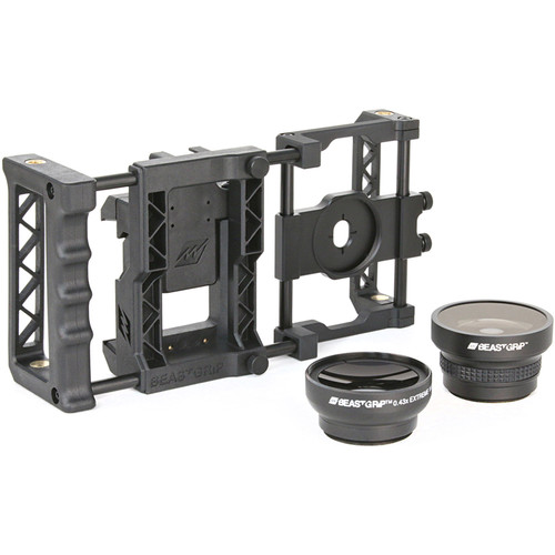 Beastgrip Pro Smartphone Lens Adapter and Camera Rig System with Wide-Angle and Fisheye Lenses