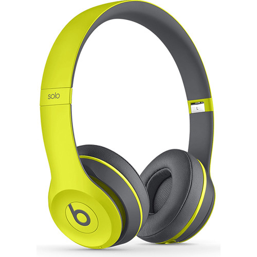 Beats by Dr. Dre Solo2 Wireless On-Ear Headphones (Shock Yellow)