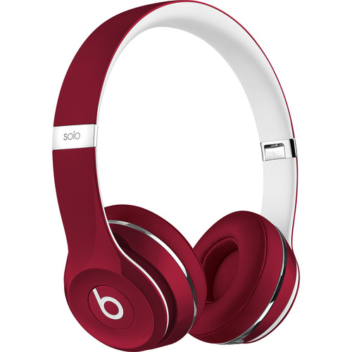 Beats by Dr. Dre Solo2 Wired On-Ear Headphones (Luxe Edition, Red)