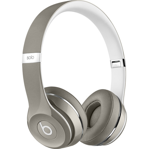 Beats by Dr. Dre Solo2 Wired On-Ear Headphones (Luxe Edition, Silver)