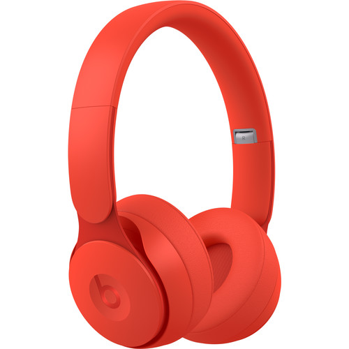 Beats by Dr. Dre Solo Pro Wireless Noise-Canceling On-Ear Headphones (Red, More Matte Collection)