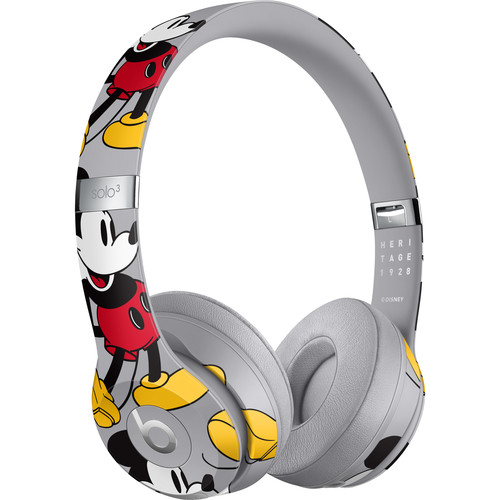 Beats by Dr. Dre Beats Solo3 Wireless On-Ear Headphones (Cool Gray/Mickey's 90th Anniversary Edition)