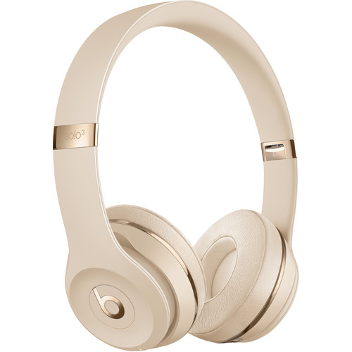 Beats by Dr. Dre Beats Solo3 Wireless On-Ear Headphones (Satin Gold / Icon)