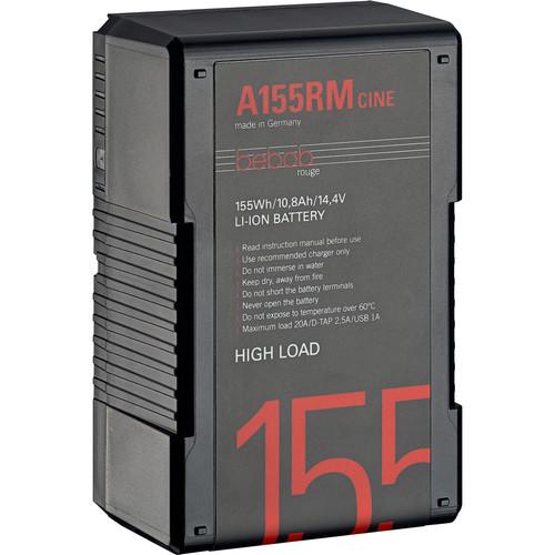 Bebob Factory GmbH A155RM-CINE 14.8V 155Wh High Load Gold Mount Li-Ion Battery