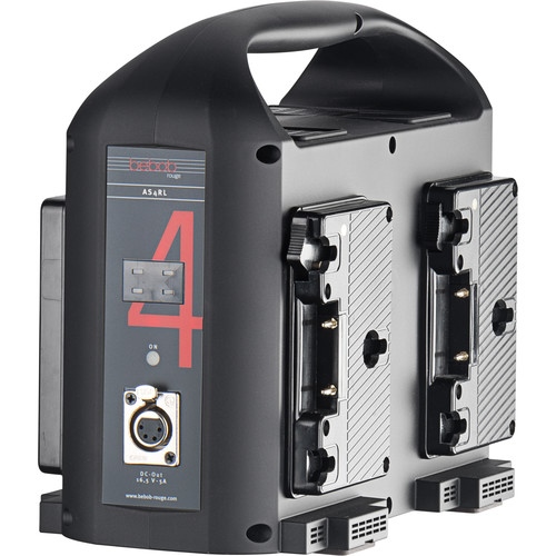 Bebob Factory GmbH 4-Channel Simultaneous Charger (Gold Mount, Red & Black)