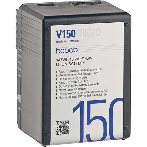 Bebob Factory GmbH V150MICRO 14.4V, 150Wh V-Mount Li-Ion Battery