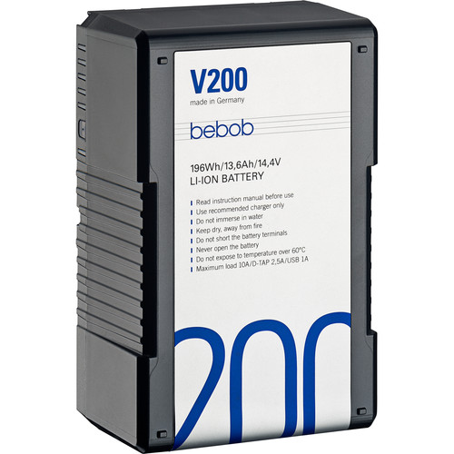 Bebob Factory GmbH V200 14.4V, 196Wh V-Mount Li-Ion Battery