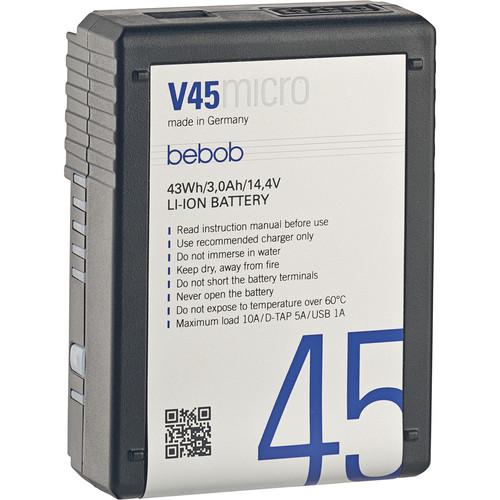 Bebob Factory GmbH V45MICRO 14.4V, 43Wh V-Mount Li-Ion Battery