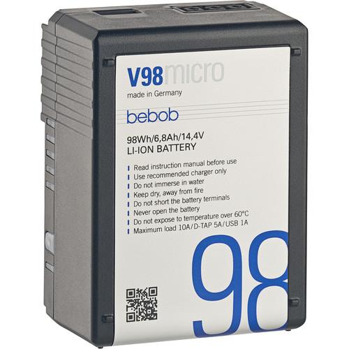 Bebob Factory GmbH V98MICRO 14.4V, 98Wh V-Mount Li-Ion Battery