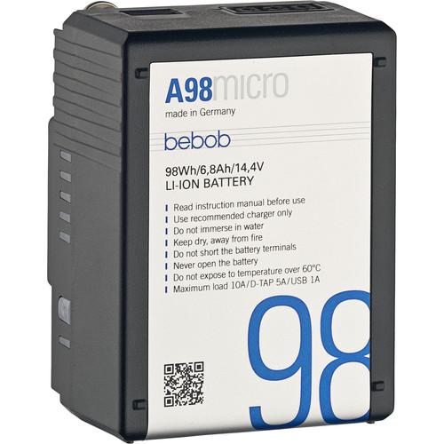 bebob A98 Micro 14.4V 98Wh Gold Mount Li-Ion Battery