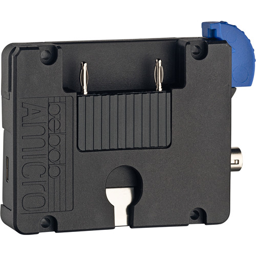 bebob Amicro Gold Mount Battery Plate with 4-Pin Hirose & USB Type-C Outputs
