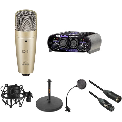 Behringer Behringer C1 and ART USB Dual Pre Vocal and Podcasting Kit