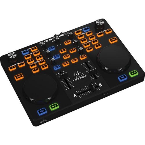 Behringer CMD Studio 2A Ultra-Portable Dual Deck DJ MIDI Controller