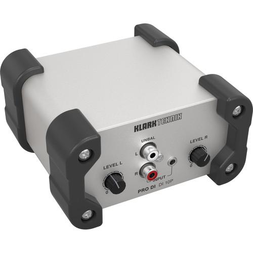 Klark Teknik DI 10P Stereo Passive Direct Box with Summed Mono Output