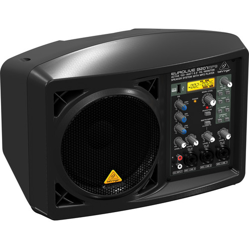 """Behringer EUROLIVE B207MP3 Active 150W 6.5"""" PA / Monitor Speaker System with MP3 Player"""