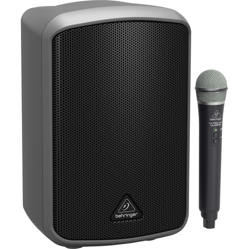 Behringer Europort MPA100BT Portable 100W Bluetooth Speaker with Wireless Handheld Mic
