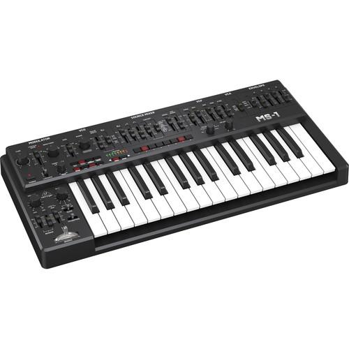 Behringer MS-1-BK Analog Synthesizer with Live Performance Kit (Black)