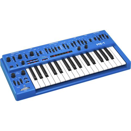 Behringer MS-1-BU Analog Synthesizer with Live Performance Kit (Blue)