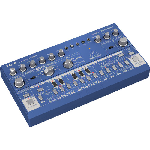 Behringer TD-3 Analog Bass Line Synthesizer with Sequencer and Distortion (Blue)