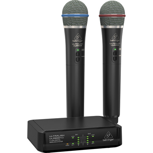 Behringer ULTRALINK ULM302MIC 2.4 GHz Wireless Microphone System (Dual-Channel, 2 Mics)