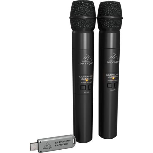 Behringer Ultralink ULM202-USB 2.4 GHz Dual Wireless Microphone System