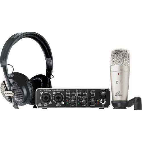 Behringer U-PHORIA STUDIO PRO Recording Bundle with UMC202HD Interface, Condenser Microphone & Headphones