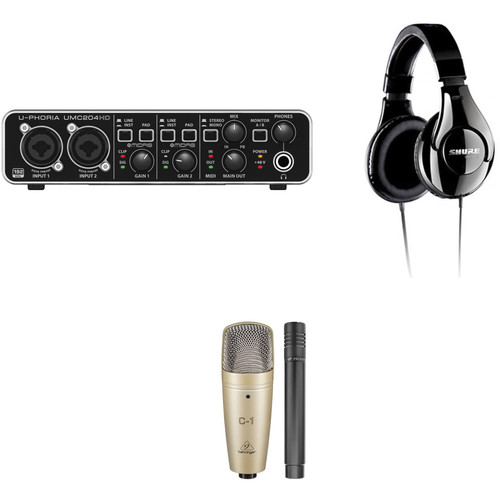 Behringer U-PHORIA UMC204HD - Vocal and Instrument Recording Kit