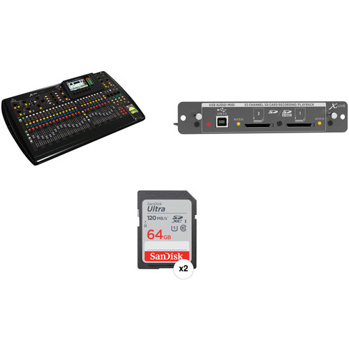 Behringer X32 Digital Mixing Console Kit with SD Recording/Playback and 64GB SD Card