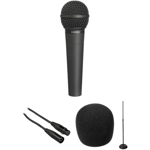 Behringer XM8500 Dynamic ULTRAVOICE Microphone with Cable and Stand Kit