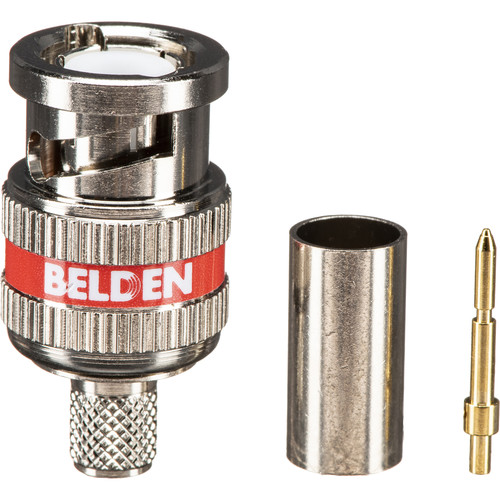 Belden HD Series 6 GHz BNC 3-Piece Crimp Connector for RG59 Coax Cable (50-Pack)