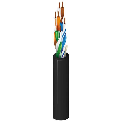Belden 1583A 4-Pair U/UTP Unshielded Cat 5e Cable (500', Black)