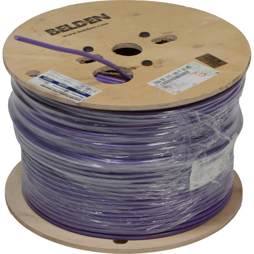 Belden 1694A RG6 Low Loss Serial Digital Coaxial Cable (1000', Violet)