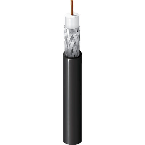 Belden 18 AWG Flooded RG-6/U Low-Loss Serial Digital Video Coaxial Cable (1000', Black)