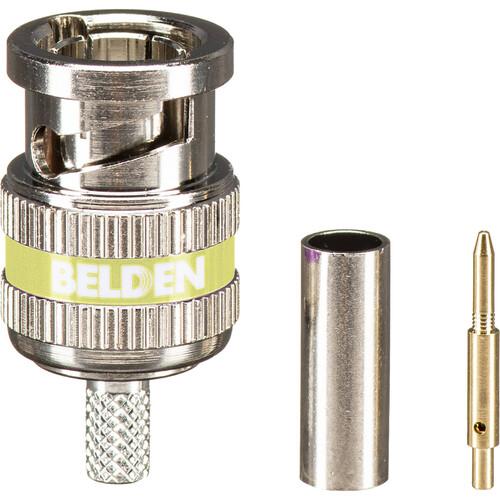 Belden 6 GHz BNC 3-Piece Crimp Connector for Mini RG59 Coax Cable (Single)