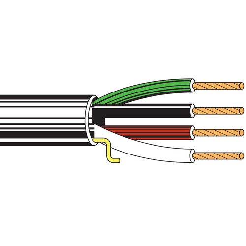Belden 5102UP Four-Conductor 14 AWG Stranded Commercial Audio Cable (1000', White)