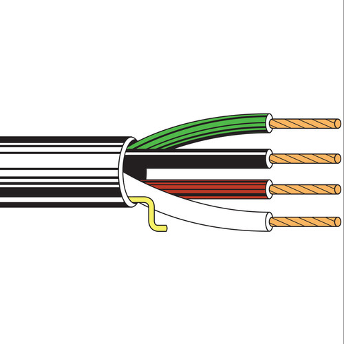 Belden 5102UP Four-Conductor 14 AWG Stranded Commercial Audio Cable (500', Black)