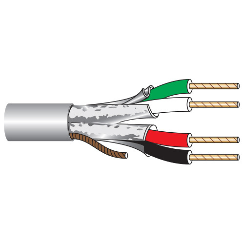 Belden Analog Audio and Control 22 AWG 4 Conductor 2 Twisted Pair Cable (Reeled, 500')