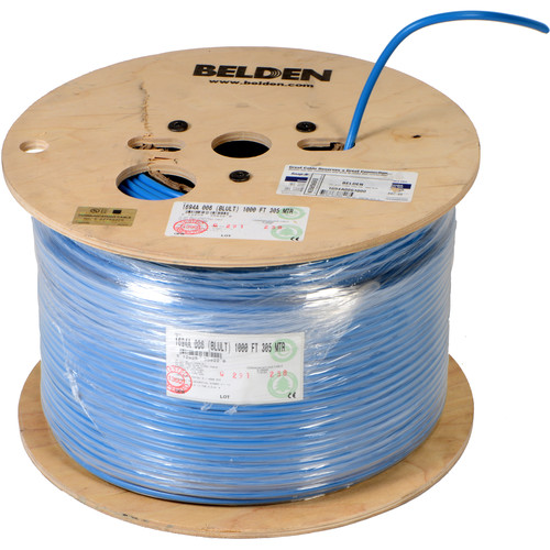 Belden 1694A RG6 Low Loss Serial Digital Coaxial Cable (1000', Blue)