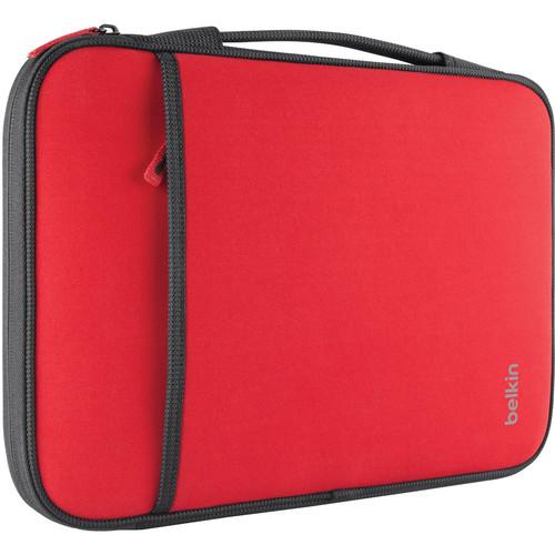 "Belkin Sleeve for 11"" Laptop/Chromebook (Red)"