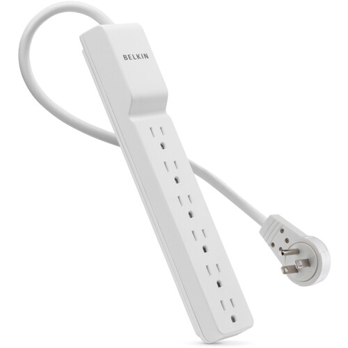 Belkin 6-Outlet Home/Office Surge Protector with Rotating Plug (8')