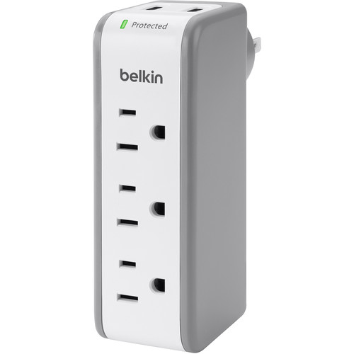Belkin 3-Outlet Mini SurgePlus Protector (Blank Box Packaging)