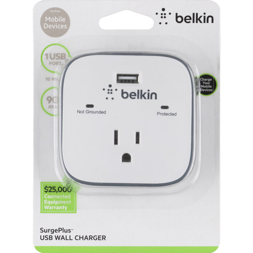 Belkin 1-Outlet Surge Protector with USB Port (2.1 AMP - 10 Watt)