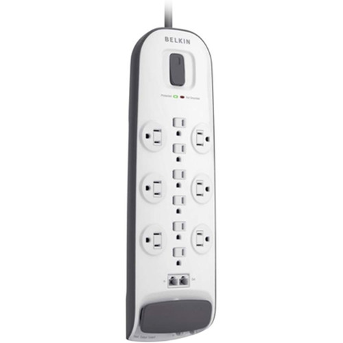 Belkin 12-Outlet Surge Protector with Ethernet and Dual RJ11 Ports (8', White)