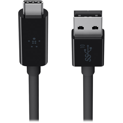 Belkin SuperSpeed+ USB 3.1 Type-A to Type-C Cable (3', Black)