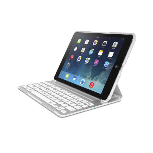 Belkin QODE Ultimate Pro Keyboard Case for iPad Air (White)