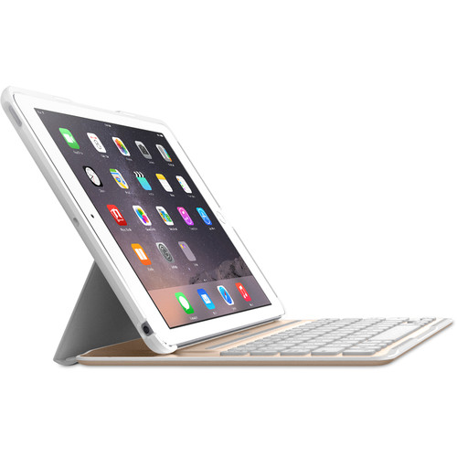 Belkin QODE Ultimate Pro Keyboard Case for iPad Air 2 (White/Gold)